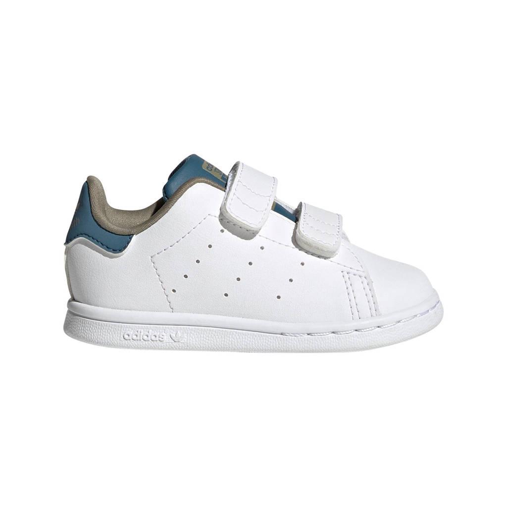 adidas Originals Stan Smith  sneakers wit/lichtblauw, Wit/lichtblauw