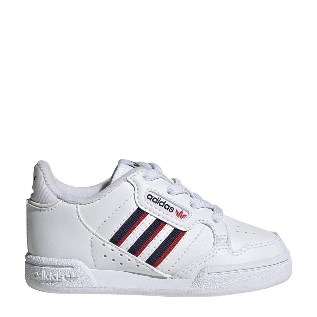 adidas Originals Continental 80 Stripes sneakers wit/donkerblauw/rood, Wit/donkerblauw/rood
