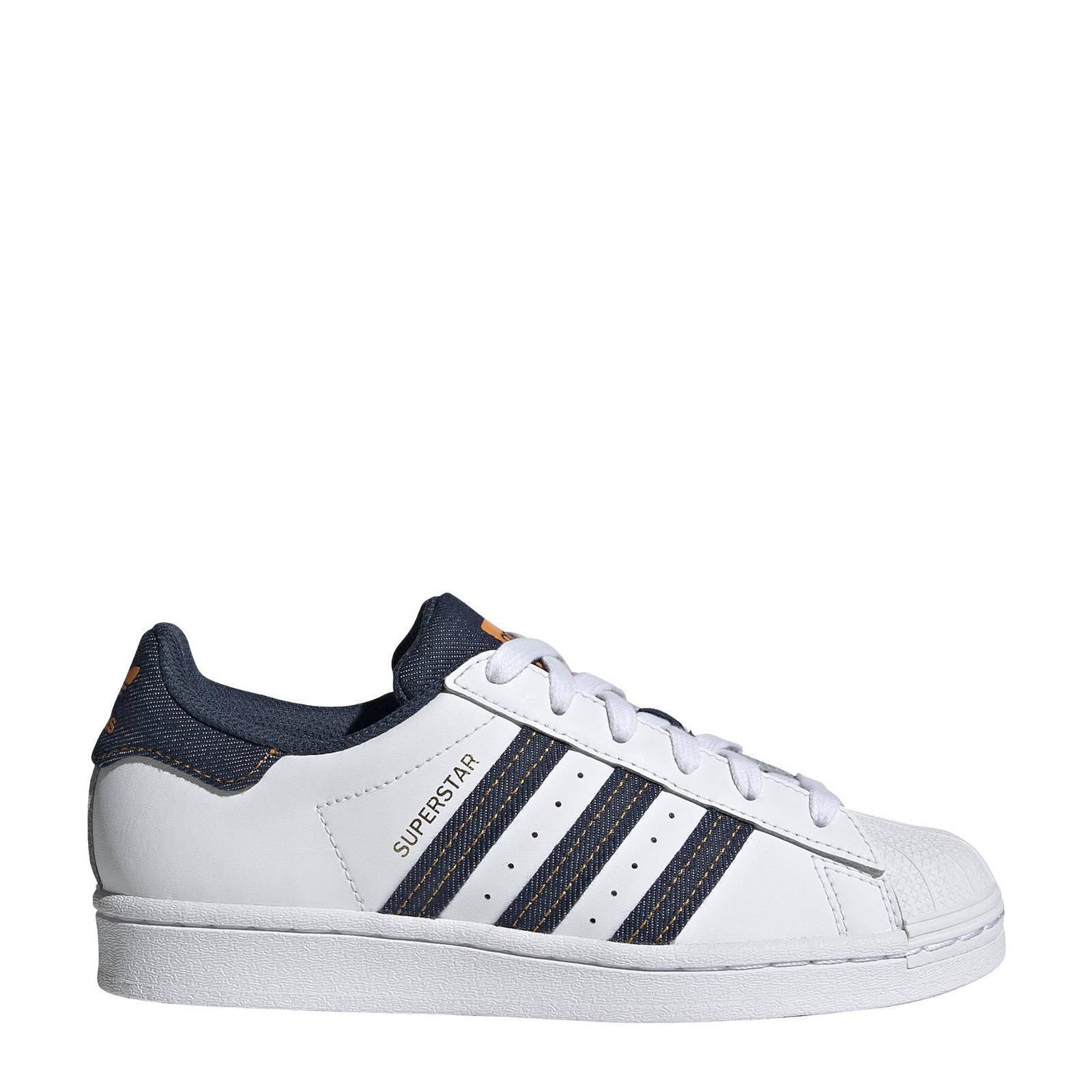 Adidas Originals Superstar sneakers wit/denim online kopen