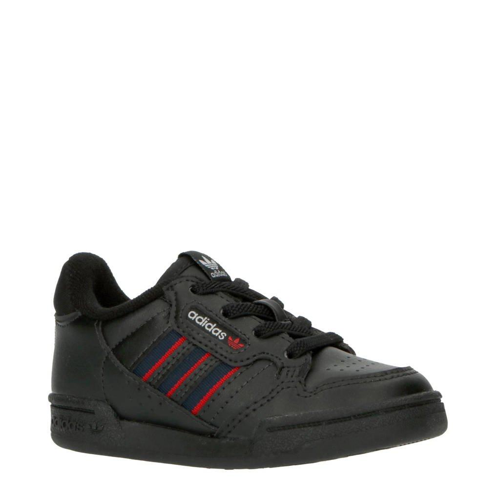 adidas Originals Continental 80 Stripes sneakers zwart/donkerblauw/rood, Zwart/donkerblauw/rood