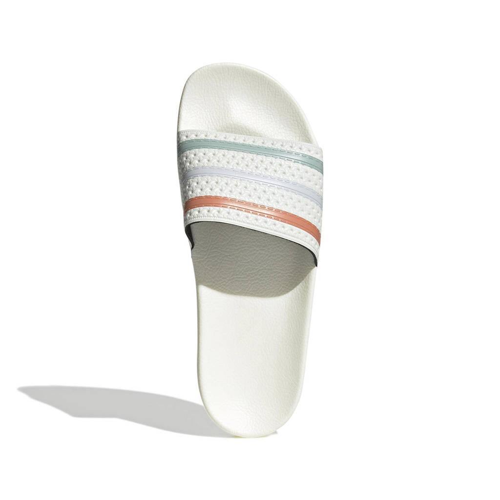 adidas Originals Adilette  badslippers ecru/koper/lichtblauw