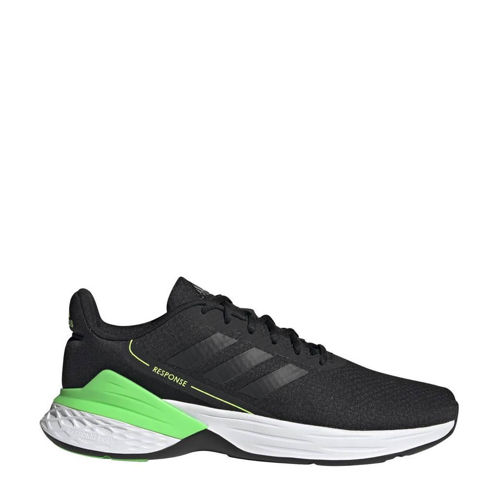 adidas Performance Response  hardloopschoenen zwart/felgroen