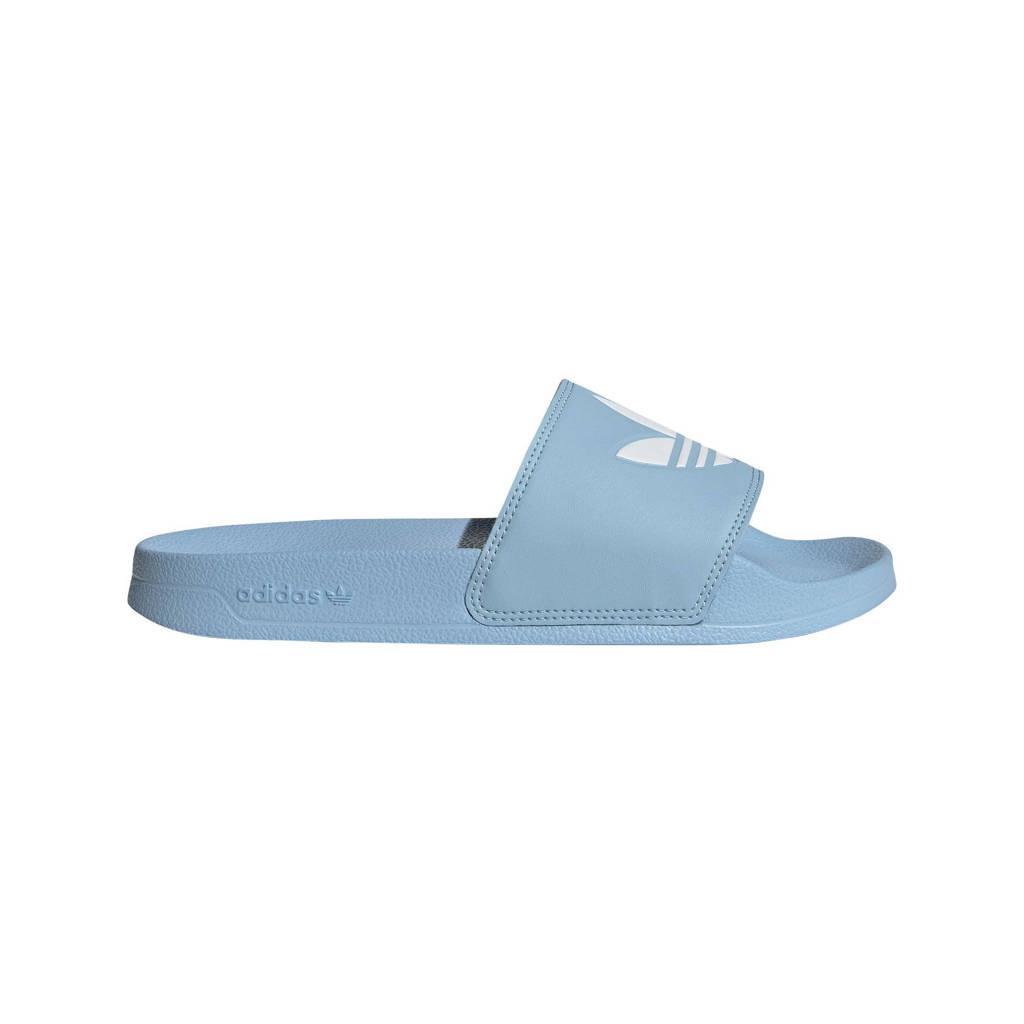 adidas Originals Adilette Lite badslippers lichtblauw/wit, Lichtblauw/wit