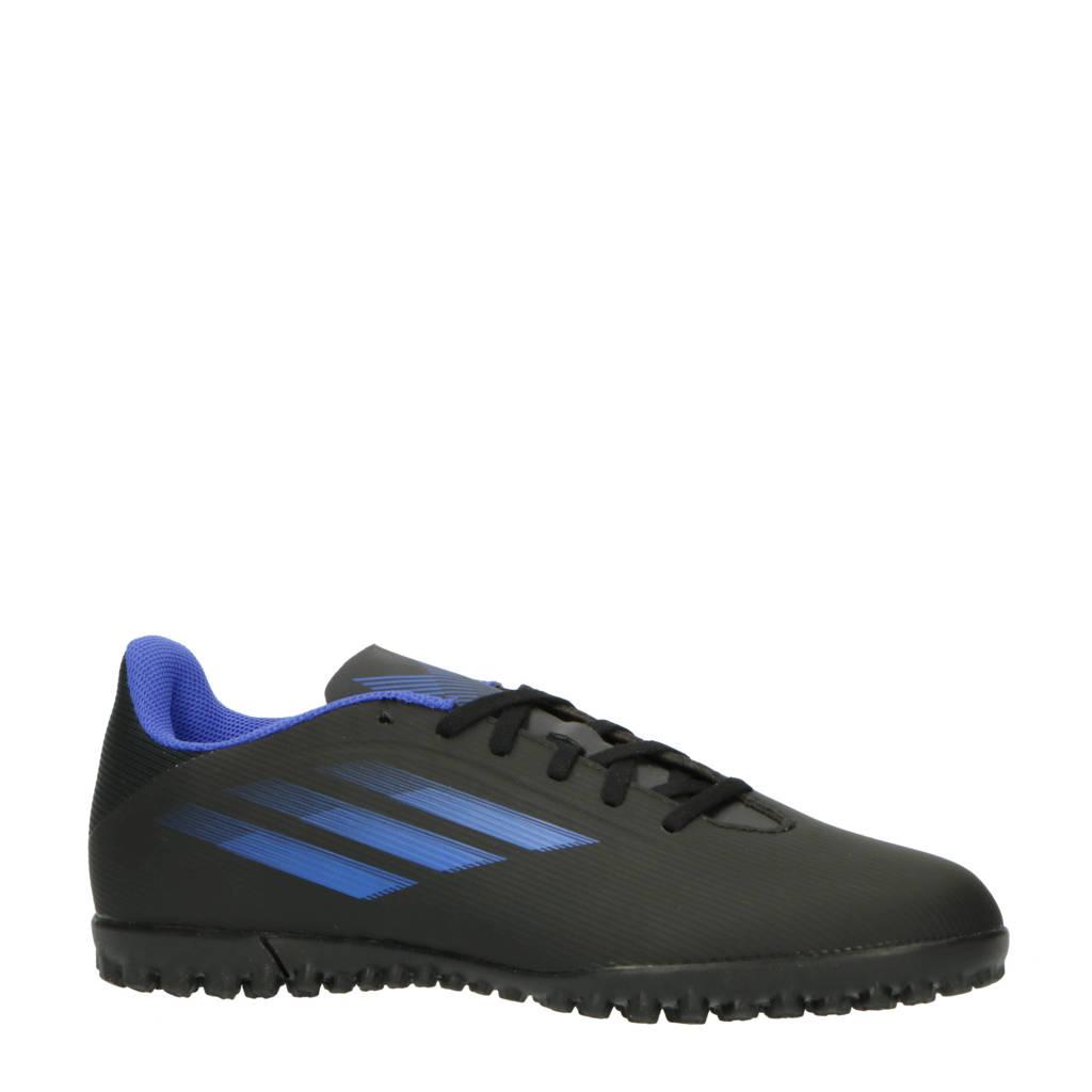 adidas Performance X Speedflow.4 voetbalschoenen zwart/blauw/geel, Zwart/blauw/geel