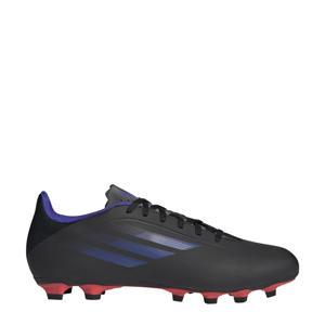 X Speedflow.4 voetbalschoenen zwart/blauw/oranje