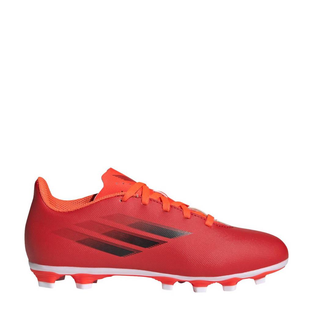 adidas Performance X Speedflow.4 Jr. voetbalschoenen rood/zwart/oranje, rood/zwart/rood