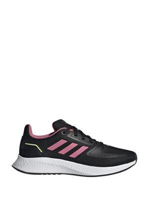 Runfalcon 2.0 Classic sneakers zwart/lichtroze/geel kids