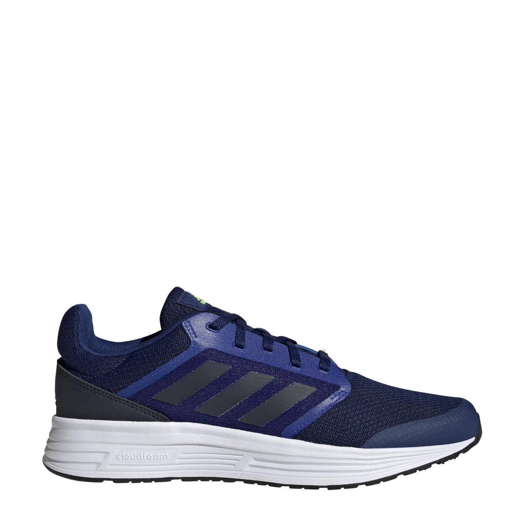 adidas Performance Galaxy 5 Classic hardloopschoenen  blauw/donkerblauw/signal groen
