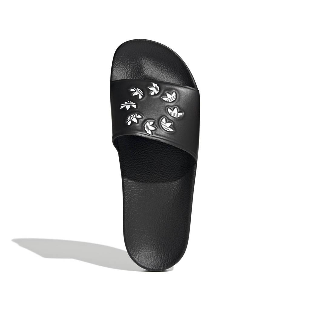 adidas Originals Adilette  badslippers zwart/wit, Zwart/wit