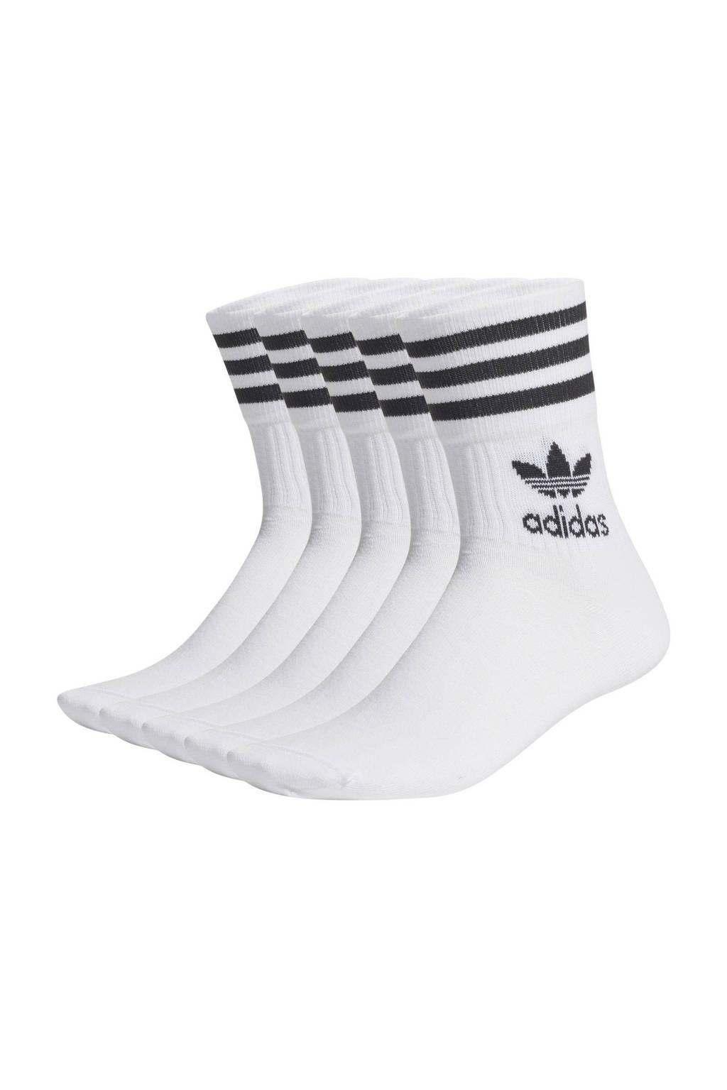 adidas Originals Adicolor sokken - set van 5 wit, Wit