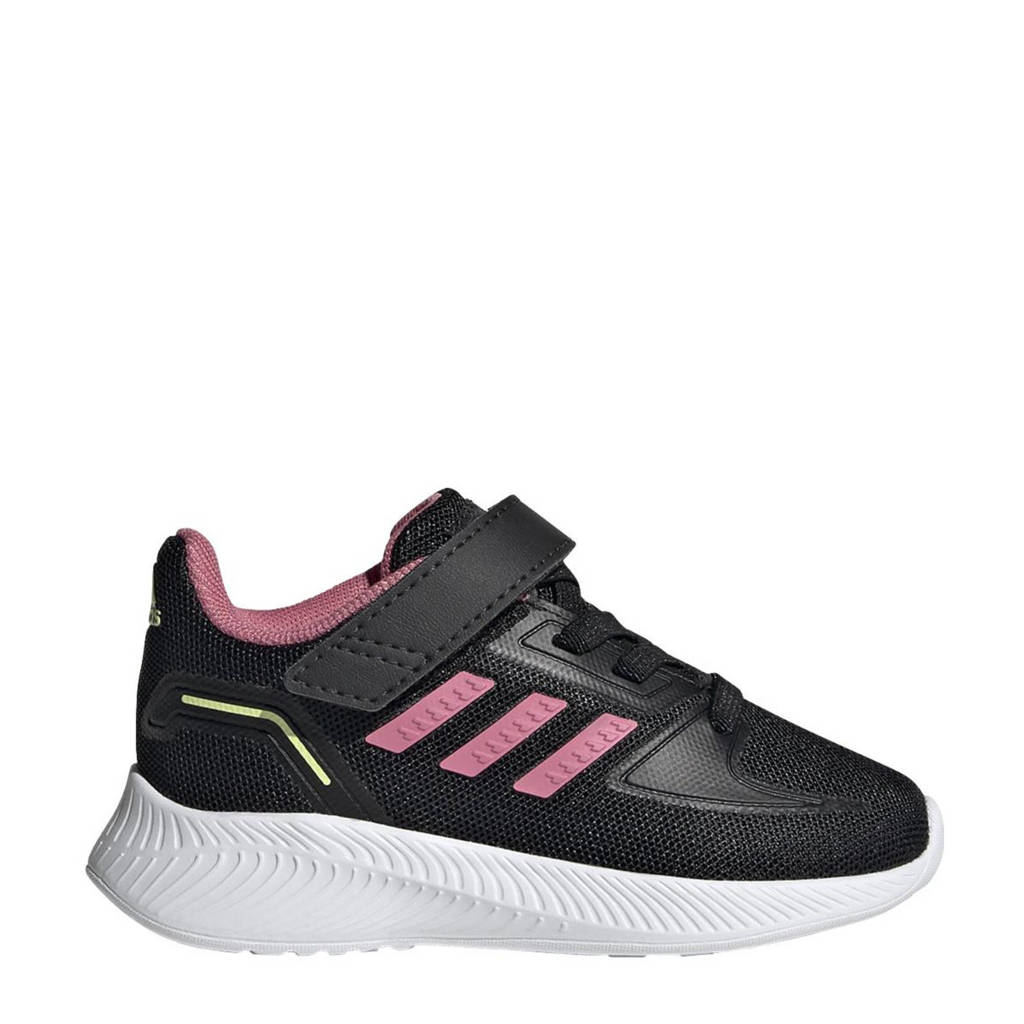 adidas Performance Runfalcon 2.0 Classic sneakers zwart/lichtroze/geel, Zwart/lichtroze/geel