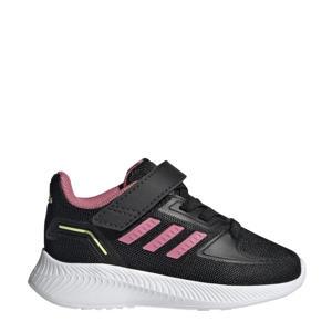 Runfalcon 2.0 Classic sneakers zwart/lichtroze/geel