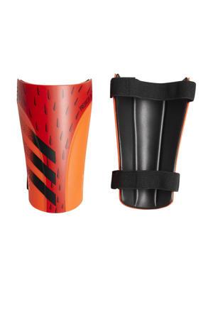 Senior  Predator scheenbeschermers oranje/zwart/rood