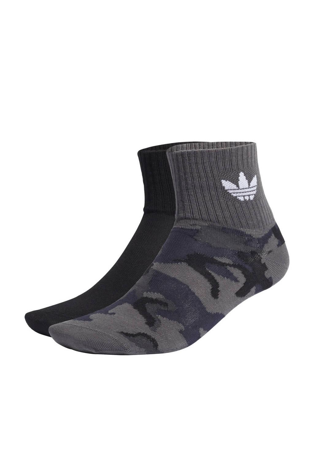 adidas Originals sokken - set van 2 antraciet/zwart, Antraciet/zwart