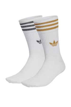 Adicolor sokken - set van 2 wit/zwart/goud