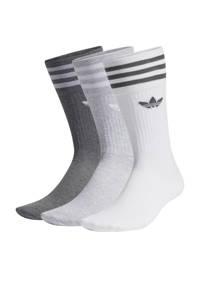 adidas Originals Adicolor sokken - set van 3 wit/grijs melange/donkergrijs
