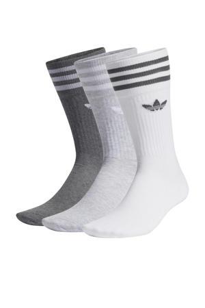 Adicolor sokken - set van 3 wit/grijs melange/donkergrijs