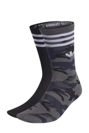 sokken - set van 2 antraciet/zwart