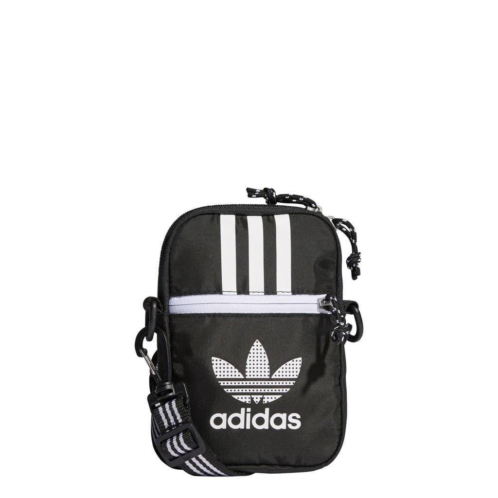 adidas Originals  Adicolor schoudertas zwart/wit, Zwart/wit