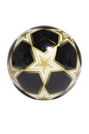 Senior  Matchbal Champions league voetbal zwart/lgoud maat 5