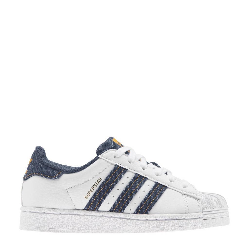 adidas Originals Superstar  sneakers wit/denim, Wit/Denim
