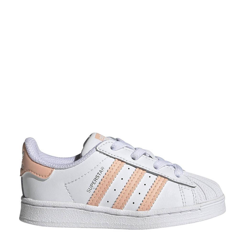 adidas Originals Superstar  sneakers wit/lichtroze, Wit/lichtroze