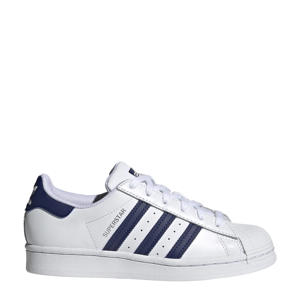 Superstar  sneakers wit/donkerblauw/wit