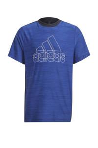 adidas Performance   sport T-shirt kobaltblauw/wit, Kobaltblauw/wit