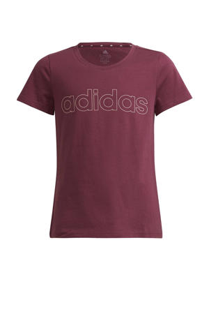 sport T-shirt donkerrood/lichtoranje