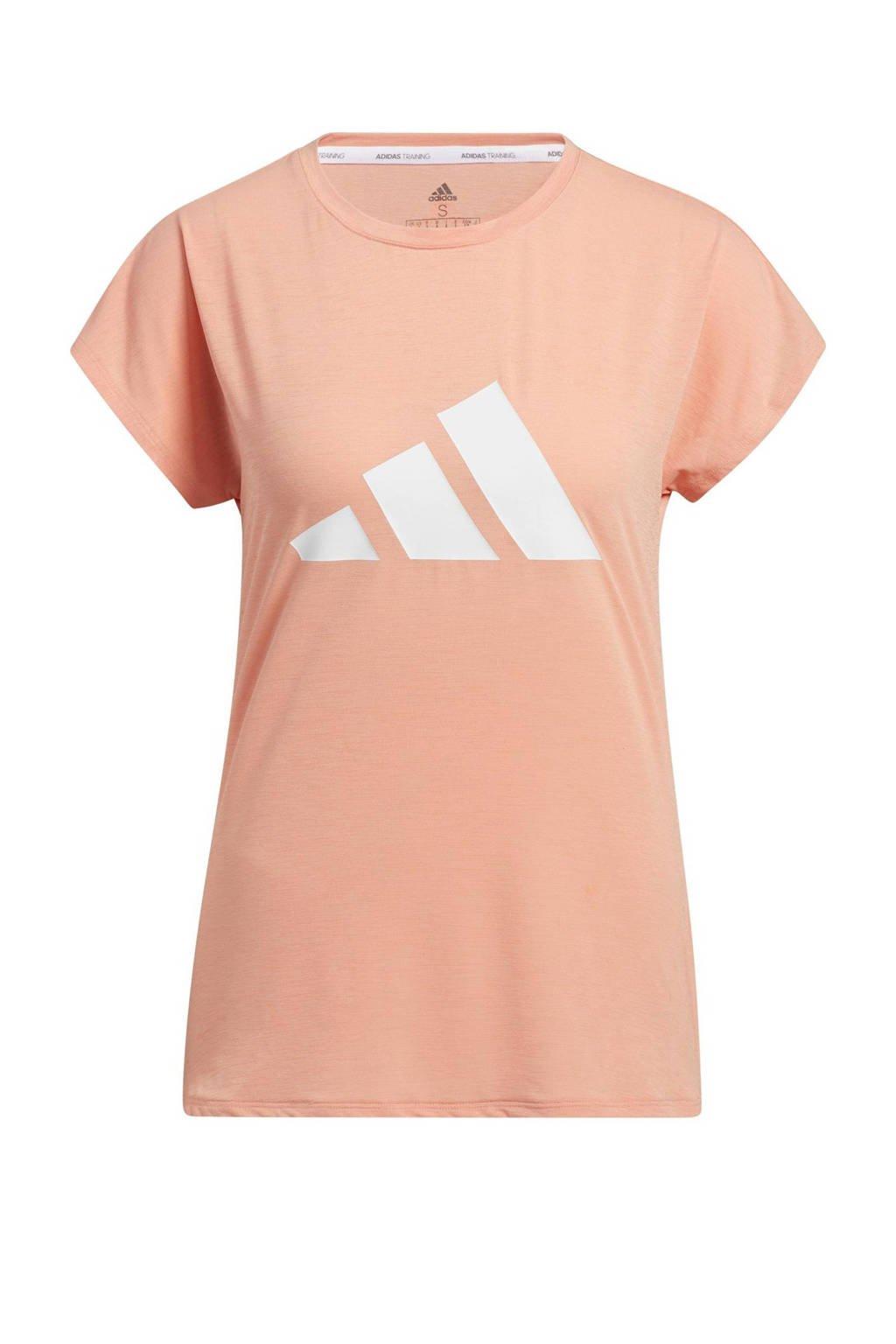 adidas Performance sport T-shirt lichtroze/wit, Lichtroze/wit