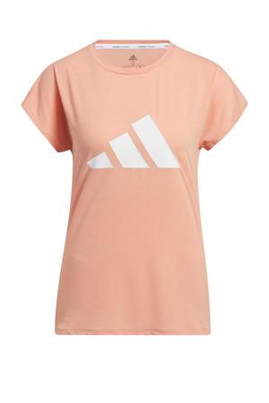 sport T-shirt lichtroze/wit