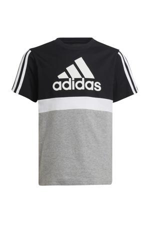 sport T-shirt zwart/wit/grijs