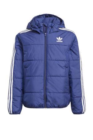 Adicolor jas donkerblauw/wit