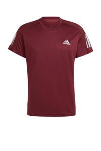 adidas Performance   Own The Run hardloop T-shirt donkerrood, Donkerrood