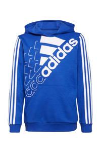 adidas Performance   sporthoodie kobaltblauw/wit, Kobaltblauw/wit