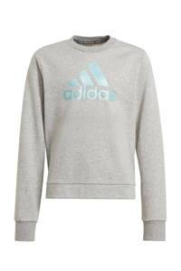 adidas Performance sportsweater grijs melange/mintgroen, Grijs melange/mintgroen