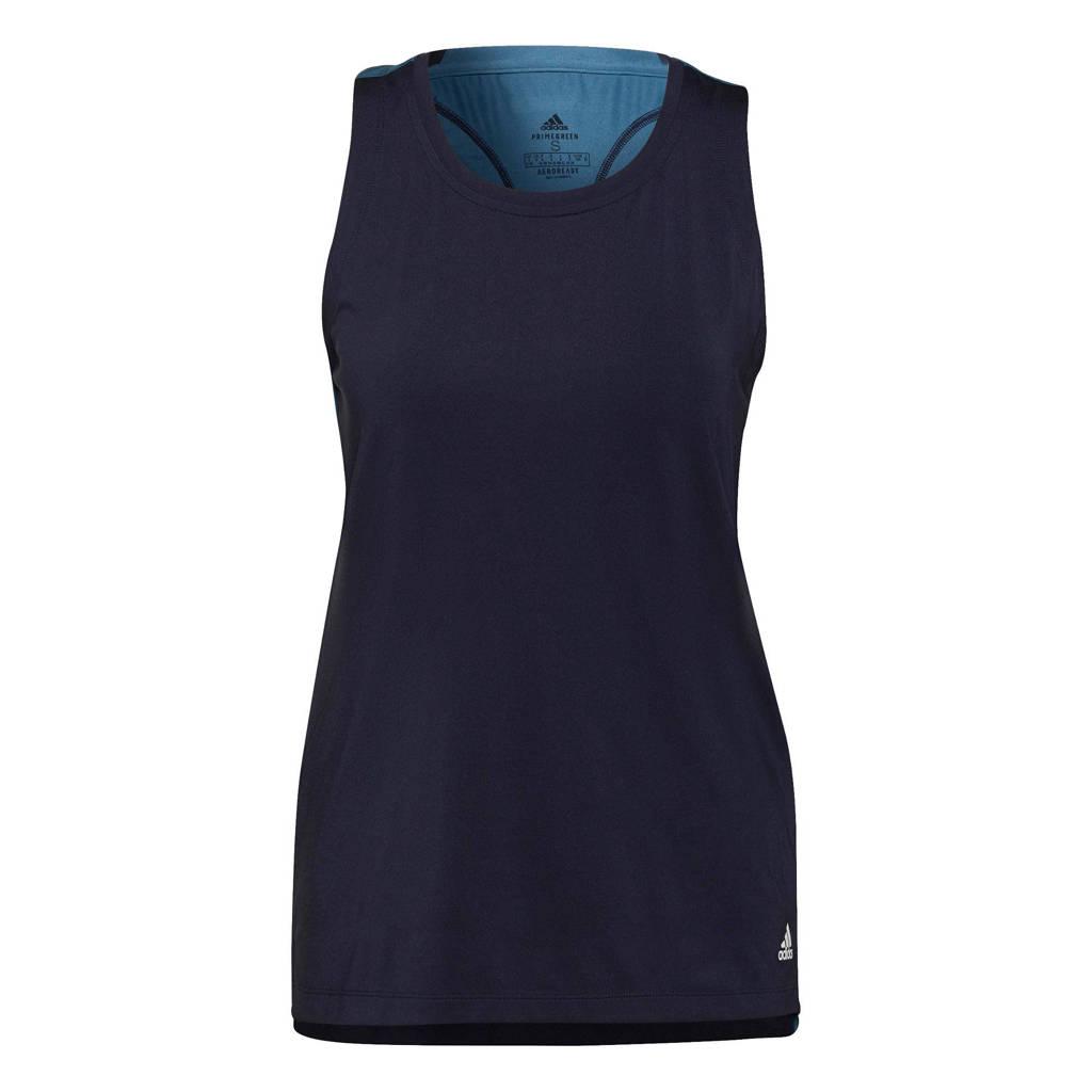 adidas Performance zwangerschaps sporttop donkerblauw, Donkerblauw/wit