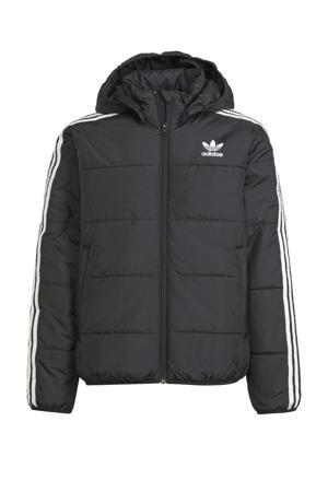 Adicolor jas zwart/wit