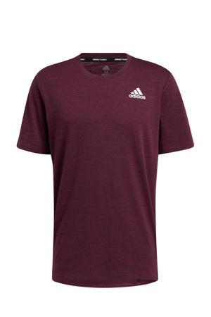 sport T-shirt donkerrood