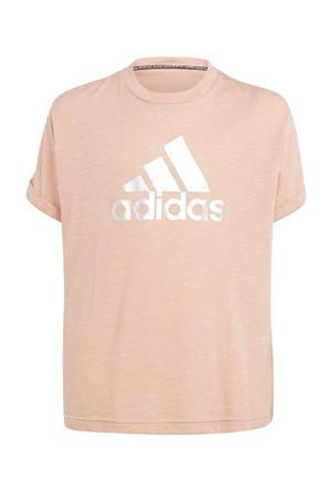 sport T-shirt roze/zilver