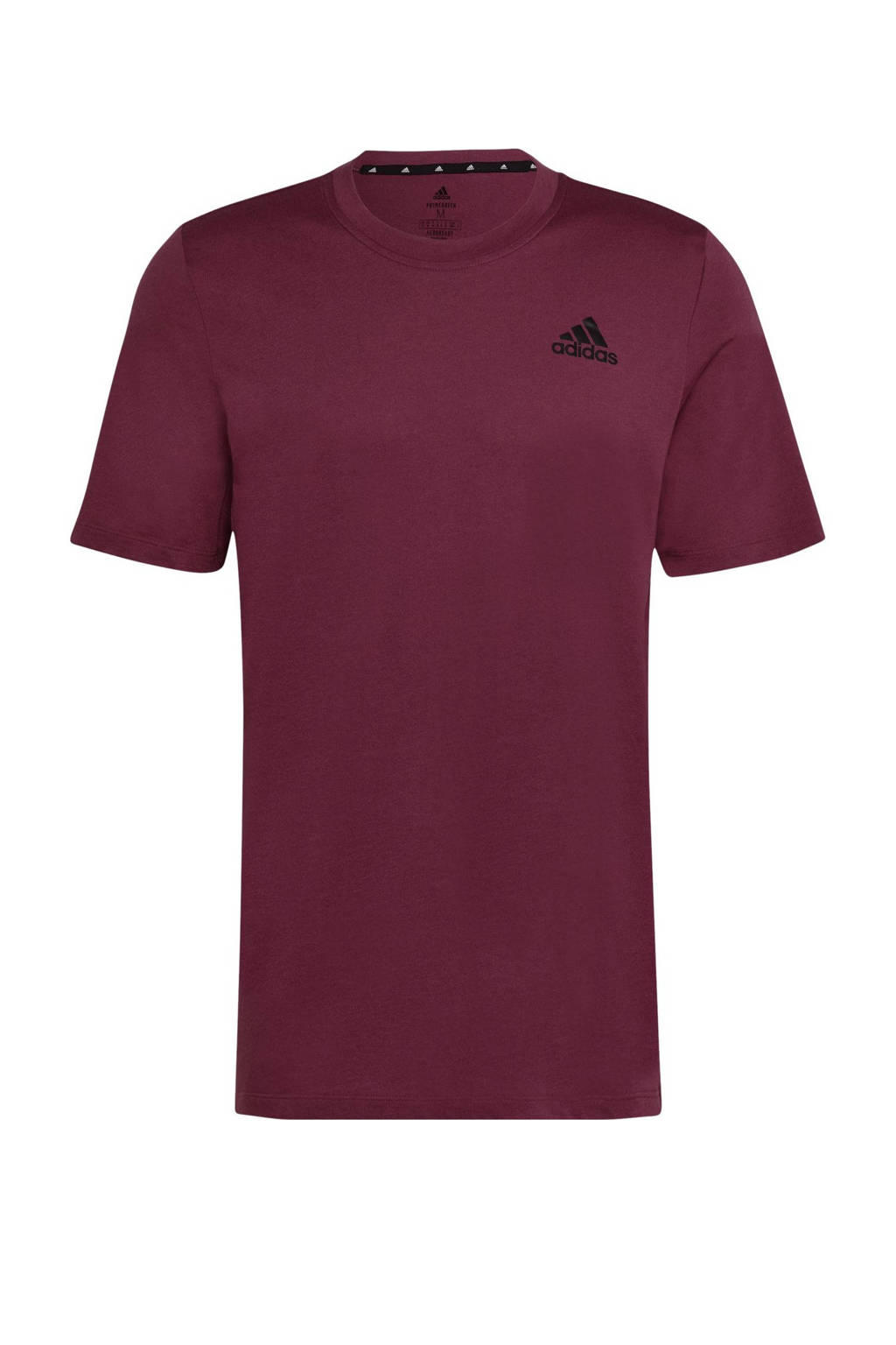 adidas Performance   Designed2Move sport T-shirt donkerrood, Donkerrood