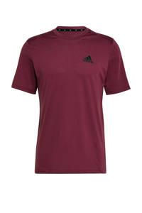 adidas Performance   sport T-shirt donkerrood/zwart, Donkerrood/zwart