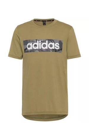 sport T-shirt groen/zwart