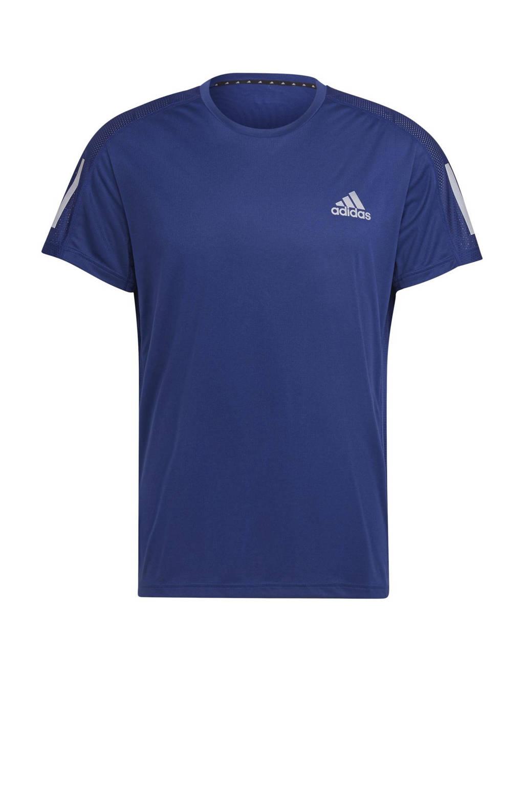 adidas Performance   Own The Run hardloop T-shirt donkerblauw, Donkerblauw