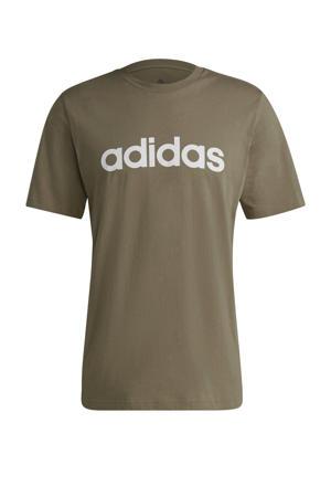 sport T-shirt groen/wit