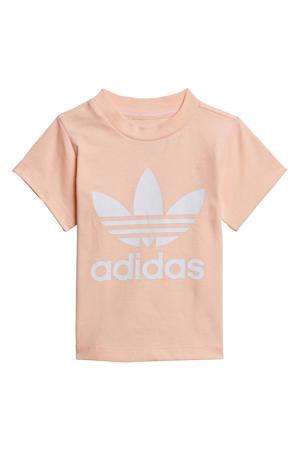 Adicolor T-shirt lichtroze/wit