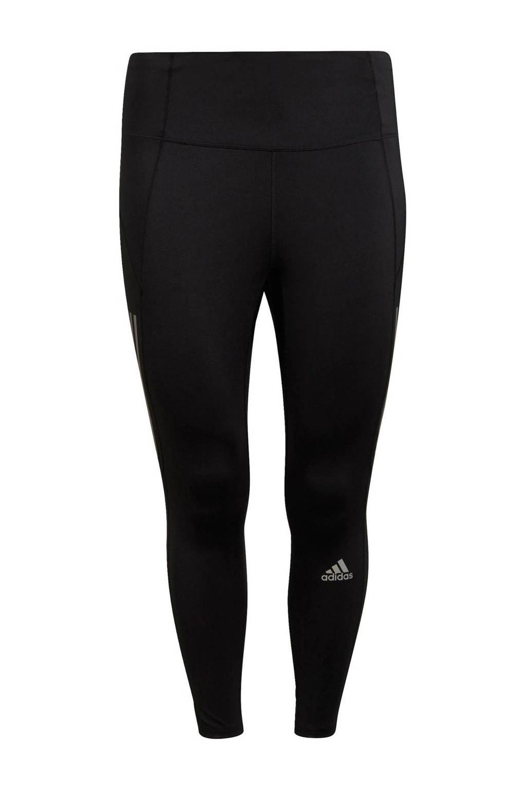 adidas Performance Own The Run Plus Size hardloop broek zwart, Zwart