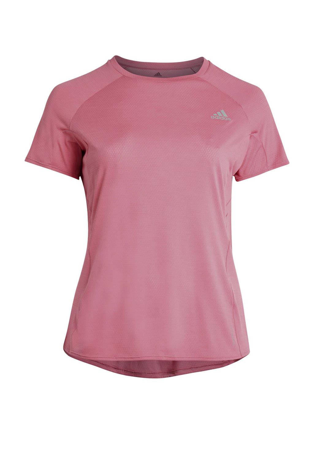 adidas Performance Plus Size hardloop T-shirt roze, Roze