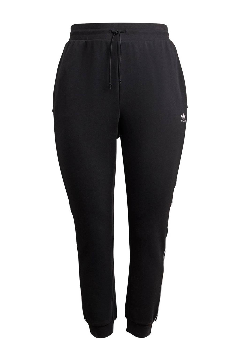 adidas Originals Adicolor Plus Size joggingbroek zwart/wit, Zwart/wit