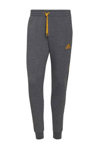 adidas Performance   joggingbroek donkergrijs/semi goud